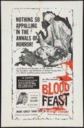 """Movie Posters:Horror, Blood Feast (Box Office Spectaculars, 1963). One Sheet (27"""" X 41""""). Horror.. ..."""