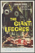 """Movie Posters:Horror, The Giant Leeches (American International, 1959). One Sheet (27"""" X41""""). Horror.. ..."""