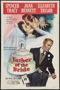 "Movie Posters:Comedy, Father of the Bride (MGM, 1950). One Sheet (27"" X 41""). Comedy....."