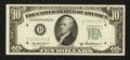Error Notes:Inking Errors, Fr. 2012-D $10 1950B Federal Reserve Note. Very Choice Crisp Uncirculated.. ...