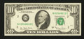 Error Notes:Ink Smears, Fr. 2024-B $10 1977A Federal Reserve Note. About Uncirculated.. ...