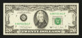 Error Notes:Ink Smears, Fr. 2076-G $20 1988A Federal Reserve Note. Very Fine.. ...