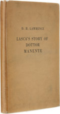 Books:First Editions, D. H. Lawrence. The Story of Doctor Manente. Translation andIntroduction by D. H. Lawrence. Florence: G. Orioli, [1...