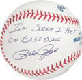 "Autographs:Baseballs, Pete Rose ""I'm Sorry I Bet On Baseball"" Inscribed Single SignedBaseball...."