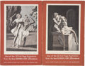 Advertising:Signs, Rockwell Kent. Four Tabletop Display Stands Advertising Kent's Decameron. Measuring approximately 10.5 x 7 inche...