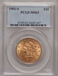 Liberty Eagles: , 1901-S $10 MS63 PCGS. PCGS Population (4662/4319). NGC Census: (5102/5060). Mintage: 2,812,750. Numismedia Wsl. Price for p...