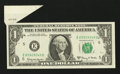 Error Notes:Foldovers, Fr. 1901-E $1 1963A Federal Reserve Note. Extremely Fine.. ...