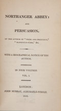 "Books:First Editions, [Jane Austen]. Northanger Abbey: and Persuasion. By theAuthor of ""Pride and Prejudice,"" ""Mansfield-Park,"" &c. W...(Total: 4 Items)"