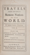 Books:First Editions, [Jonathan Swift]. Travels into Several Remote Nations of theWorld. In Four Parts. By Lemuel Gulliver, first a Sur...