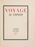 Books:First Editions, André Gide. Voyage au Congo suivi du Retour du Tchad. Paris:Librairie Gallimard, [1929].. First edition, limited ...