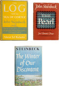Books:First Editions, John Steinbeck. Three First Editions, including: The Log fromthe Sea of Cortez. New York: The Viking Press, 1951. F...(Total: 3 Items)