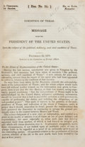 Books:Non-fiction, Andrew Jackson. Doc. No. 35 Condition of Texas Message fromthe/President of the United States,...