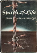 Books:First Editions, Erich Maria Remarque. Spark of Life. Translated from theGerman by James Stern. New York: Appleton-Century-Crofts, I...