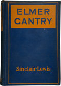 Books:First Editions, Sinclair Lewis. Elmer Gantry. New York: Harcourt, Brace andCompany, [1927]. First edition. Octavo. 432 pages. Blue ...