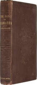 Books:First Editions, Henry Wadsworth Longfellow. The Song of Hiawatha. Boston:Ticknor and Fields, 1855. First edition, first issue. ...