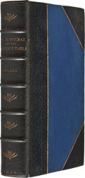 Books:First Editions, [Oliver Wendell Holmes]. The Autocrat of theBreakfast-Table. Boston: Phillips, Sampson and Company, 1858.First...