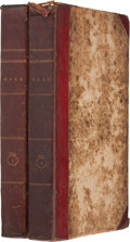 Books:First Editions, [Washington Irving]. Geoffrey Crayon [pseudonym]. BracebridgeHall, or The Humourists, A Medley. New York: C. S....(Total: 2 Items)