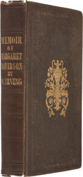 Books:First Editions, Washington Irving. Biography and Poetical Remains of the LateMargaret Miller Davidson. Philadelphia: Lea and Bl...
