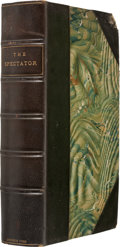 Books:First Editions, The Spectator; Complete in One Volume. With Notes, and a GeneralIndex. London: Printed for Jones and Company, 1826....