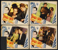 "Movie Posters:Crime, The Fall Guy (RKO, 1930). Lobby Cards (4) (11"" X 14""). Crime. ...(Total: 4 Items)"