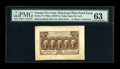 Fractional Currency:First Issue, Milton 1P25F.1e 25¢ First Issue Proof PMG Choice Uncirculated63....