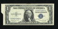 Error Notes:Attached Tabs, Fr. 1617 $1 1935G With Motto Silver Certificate. Extremely Fine.....