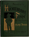 Books:First Editions, Mark Twain. Adventures of Huckleberry Finn (Tom Sawyer'sComrade). New York: Charles L. Webster and Company, 188...
