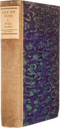 Books:Signed Editions, Willa Cather. One of Ours. New York: Knopf, 1922. . Firstedition, first printing. Limited issue, one of 345 copi...