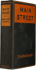 Books:Signed Editions, Sinclair Lewis. Main Street. New York: Harcourt, Brace andHowe, 1920. . First edition, later issue (broken ty...