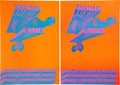 Memorabilia:Poster, Sopwith Camel Concert Poster NR-5 Group (Neon Rose, 1967)Condition: NM.... (Total: 2 Items)