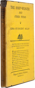 Books:First Editions, Edna St. Vincent Millay. The Harp-Weaver and Other Poems.New York and London: Harper & Brothers Publishers, 1923. F...