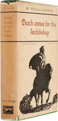Books:First Editions, Willa Cather. Death Comes for the Archbishop. New York:Alfred A. Knopf, 1927. First edition, first printing of adva...
