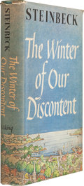 Books:First Editions, John Steinbeck. The Winter of Our Discontent. New York: TheViking Press, 1961. First trade edition. Octavo. 311 pa...