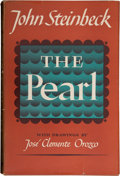 Books:First Editions, John Steinbeck. The Pearl. With drawings by José ClementeOrozco. New York: The Viking Press, 1947. First edition, f...