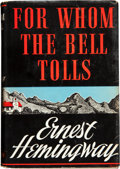 Books:First Editions, Ernest Hemingway. For Whom the Bell Tolls. New York: CharlesScribner's Sons, 1940. First edition, first issue. Beig...