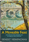Books:First Editions, Ernest Hemingway. A Moveable Feast. New York: CharlesScribner's Sons, [1964]. First American edition. Half orange c...