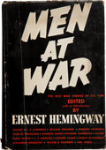Books:First Editions, Ernest Hemingway, editor. Men At War. The Best WarStories of All Time. New York: Crown Publishers, [1942].Firs...