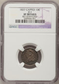 Bust Dimes, 1837 10C Capped--Rev Scratched--NGC Details. XF. JR-3. Mintage:359,500. (#4529)...