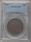 Early Half Dollars, 1795 50C XF40 PCGS. PCGS Population (39/120). NGC Census: (41/183).Mintage: 299,680. Numismedia Wsl. Price for problem fre...