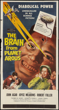 "The Brain from Planet Arous (Howco, 1957). Three Sheet (41"" X 81""). Science Fiction"