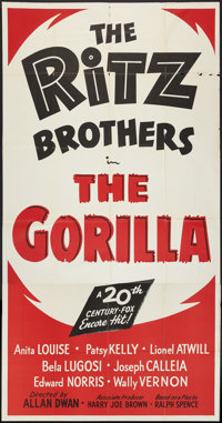 """The Gorilla Lot (20th Century Fox, R-1949). Three Sheet (41"""" X 81"""") and One Sheet (27"""" X 41""""). Comed..."""