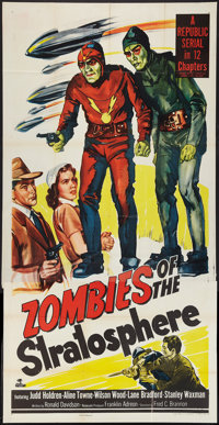 "Zombies of the Stratosphere (Republic, 1952). Three Sheet (41"" X 81""). Serial"