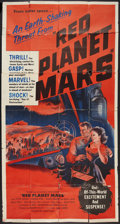 """Movie Posters:Science Fiction, Red Planet Mars (United Artists, 1952). Three Sheet (41"""" X 81""""). Science Fiction.. ..."""