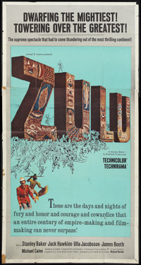 "Zulu (Paramount, 1964). Three Sheet (41"" X 81""). War"