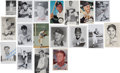 Baseball Collectibles:Others, Baseball Stars and Hall of Famers Signed Photos and Misc. Lot of18....