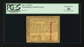 Colonial Notes:Massachusetts, Massachusetts May 5, 1780 $3 Slash Cancelled PCGS Extremely Fine 40.. ...