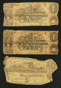 Confederate Notes:1863 Issues, Confederate and Alabama Notes.. ... (Total: 5 notes)
