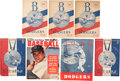 Baseball Collectibles:Programs, Brooklyn Dodgers Programs and Publications Lot of 7 - From Family of Pee Wee Reese....