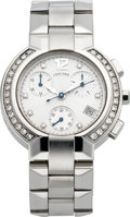 "Timepieces:Wristwatch, Concord ""La Scala"" Ladies Steel & Diamond Wristwatch. ..."