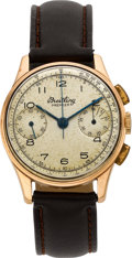 Timepieces:Wristwatch, Breitling Premier Rose Gold Chronograph Wristwatch. ...